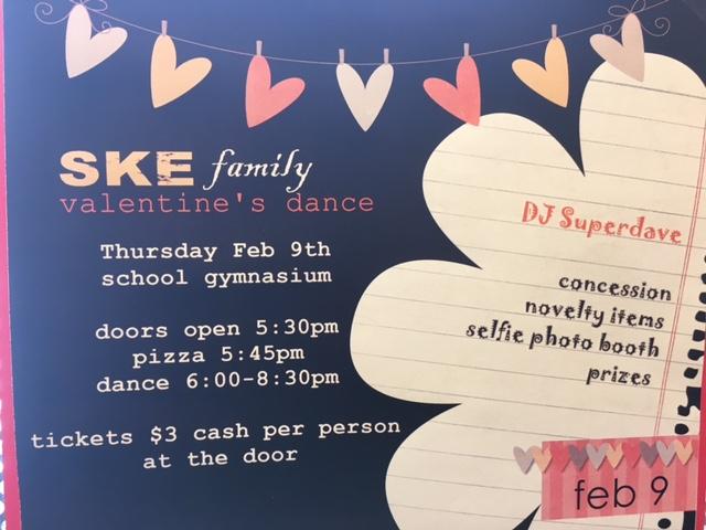 SKE Family Valentine's Dance February 9th